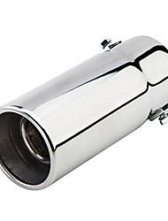 Недорогие -58 мм диаметр входного отверстия из нержавеющей стали автомобильная выхлопная труба глушитель модифицированная хвостовая часть горла