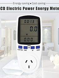 Недорогие -цифровой измеритель энергии разъем подключаемый счетчик электроэнергии монитор энергии жк-дисплей ес / великобритания / сша штекер с белой подсветкой