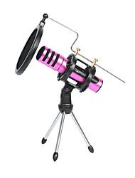 Недорогие -регулируемая настольная студийная конденсаторная подставка для микрофона с крышкой фильтра для ветрового стекла, резиновые кольца