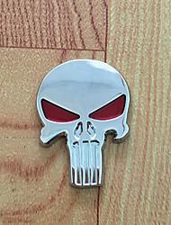 Недорогие -черный череп каратель стайлинга автомобилей эмблема наклейка значок стикер металл