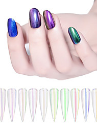 billige -1 pcs Bedste kvalitet Glitter Løst Pulver Til Fingernegl Mode Negle kunst Manicure Pedicure Daglig / Festival Stilfuld / Farverig