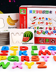 Недорогие -Игрушка для обучения чтению деревянный Детские Все Игрушки Подарок