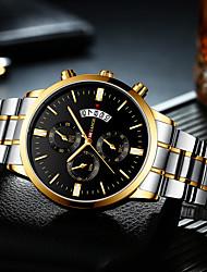 Недорогие -Муж. Нержавеющая сталь Кварцевый Нержавеющая сталь Черный / Синий / Зеленый 30 m Новый дизайн Повседневные часы Аналоговый На каждый день Мода -  / Один год