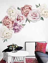 Недорогие -красивые пион цветок наклейки на стены - слова&усиленные цитаты стикеры на стенах персонажей кабинет / кабинет / столовая / кухня