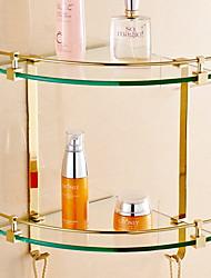 Недорогие -Полка для ванной Креатив Современный Латунь / стекло 1шт - Ванная комната На стену