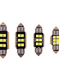 Недорогие -10 шт. Автомобиль c5w светодиодный 31 36 39 41 мм внутреннее освещение 3030 фишек светодиодные лампы гирлянды купол автомобиля canbus без ошибок авто интерьер лампа для чтения