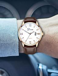 Недорогие -Муж. Нарядные часы Кварцевый Спортивные Стильные Кожа Черный / Коричневый 30 m Секундомер Творчество Светящийся Аналоговый Блестящие На каждый день -  / Два года