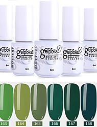 Недорогие -лак для ногтей 6 шт. цвет 163-168 xyp выдержка уф / светодиод гель лак для ногтей сплошной цвет лак для ногтей наборы
