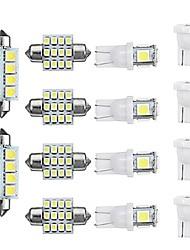Недорогие -14 шт. T10 светодиодный интерьер автомобиля купол лампы для чтения лампочки на крыше номерного знака лампы