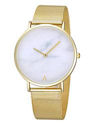 Недорогие -женский металлический корпус сплава ремешок для часов круглый циферблат шкала бесплатный указатель кварцевые часы