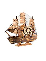 Недорогие -Игрушечные корабли Катер Ручная работа деревянный Детские Все Игрушки Подарок