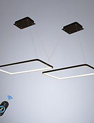 Недорогие -ecolight 2 шт. / лот прямоугольник линейный подвесной свет окружающего света для столовой гостиной. регулируемый диммер 110-120В / 220-240В теплый белый / белый / Wi-Fi Smart