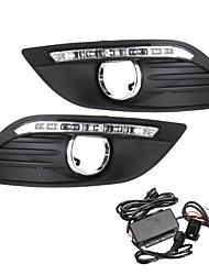Недорогие -светодиодные дневные ходовые огни drl лампа белого цвета с проводкой для Ford Focus 2008-2013