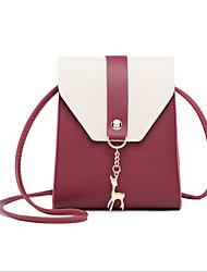 Недорогие -Жен. Заклепки PU Сумочка через плечо Красный / Розовый / Серый