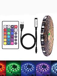 Недорогие -LOENDE 5 метров Наборы ламп 150 светодиоды SMD5050 RGB Водонепроницаемый / USB / Для вечеринок 5 V / Работает от USB 1 комплект / Самоклеющиеся