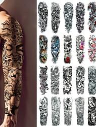 Недорогие -1 pcs Временные татуировки Классический / Лучшее качество Корпус / плечо / ножка Наклейка для переноса воды
