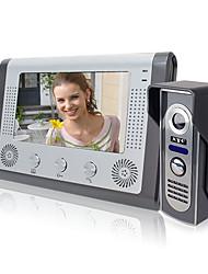 Недорогие -LITBest 801M11 Проводное Встроенный из спикера 7 дюймовый Гарнитура 800*480 пиксель Один к одному видео домофона