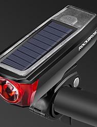Недорогие -Светодиодная лампа Велосипедные фары Передняя фара для велосипеда Велоспорт Cool Солнечная энергия 350 lm Солнечная энергия Белый Велосипедный спорт