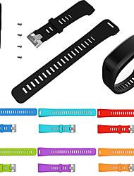 Недорогие -Замена спортивный силиконовый браслет браслет ремешок для часов ремешок для garmin vivosmart hr band аксессуары