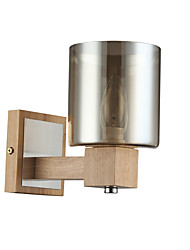 Недорогие -простые северные стеклянные стены бра бра цилиндрические деревянные настенные светильники современные современные настенные светильники&усилитель; бра бра / спальня деревянный настенный светильник