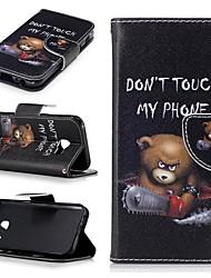 ieftine -Maska Pentru Samsung Galaxy A3(2017) Portofel / Anti Șoc / Întoarce Carcasă Telefon Decor / Desene Animate Greu PU piele pentru A3 (2017)