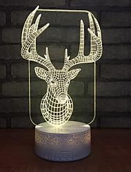 Недорогие -красочные лось всплеск фон 3d голова оленя ночной свет USB настольная лампа светодиодные день Святого Валентина подарок настольные лампы