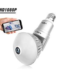 Недорогие -1080p 200w лампа ip-камера 360 градусов панорамный wi-fi беспроводная камера ночного видения обнаружение движения домашнее животное камеры младенца