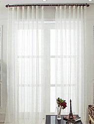 Недорогие -Прозрачный 2 шторы Прозрачный Гостиная   Curtains