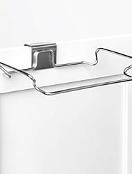 Недорогие -нержавеющая сталь пластиковый мешок для мусора шкаф двери обратно стойку для мусора кухня организатор корзина для мусора ткань держатель для полотенец