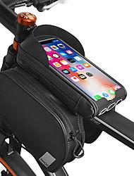 Недорогие -Сотовый телефон сумка 6.2 дюймовый Сенсорный экран Компактность Со светоотражающими полосками Велоспорт для iPhone 8/7/6S/6 iPhone 8 Plus / 7 Plus / 6S Plus / 6 Plus iPhone X Черный / 600D полиэстер