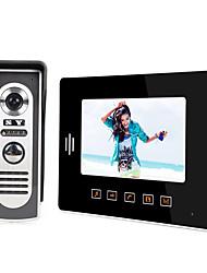 Недорогие -LITBest 808M11 Проводное Встроенный из спикера 7 дюймовый Гарнитура 800*480 пиксель Один к одному видео домофона