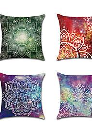 Недорогие -1 штук Лён Наволочка, Контрастных цветов Современный стиль Классика Мода Бросить подушку