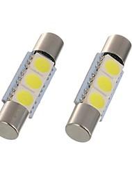 Недорогие -2 шт. 28 мм 29 мм светодиодный гирлянда c5w 6614f ts-14v1c лампа салона автомобиля 3 smd 5050 ксеноновый белый для автомобиля тщеславие зеркало свет купола свет для чтения света