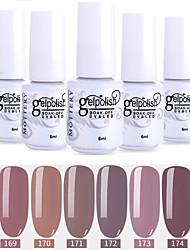 Недорогие -лак для ногтей 6 шт. цвет 169-174 xyp soak-off uv / led гель лак для ногтей сплошной цвет лак для ногтей наборы