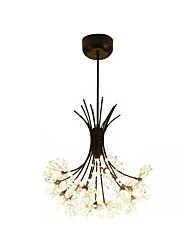 Недорогие -подвесной светильник хрустальная люстра одуванчик подвесное освещение подвесные светильники для спальни 13-светлый черный