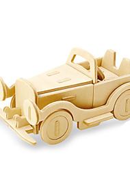 Недорогие -Robotime 3D пазлы Пазлы Деревянные игрушки Автомобиль Лев Своими руками деревянный Натуральное дерево Детские Универсальные Игрушки Подарок