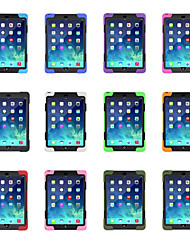 Недорогие -Кейс для Назначение Apple iPad Air / iPad 4/3/2 / iPad Mini 3/2/1 Поворот на 360° / со стендом Кейс на заднюю панель Однотонный Мягкий Силикон / пластик