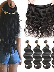 Недорогие -4 Связки Бразильские волосы Естественные кудри Свободные волны Натуральные волосы Человека ткет Волосы 8-26 дюймовый Ткет человеческих волос Расширения человеческих волос