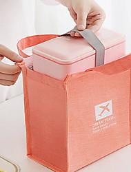 """Недорогие -Ткань """"Оксфорд"""" Молнии Коробка для ланча Сплошной цвет Повседневные Оранжевый / Темно-синий / Серый"""