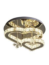 Недорогие -хрустальный потолочный светильник современный круглый в форме сердца светодиодный потолочный светильник хром потолочные светильники для спальни