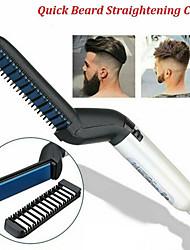 Недорогие -многофункциональный мужской бигуди расческа щипцы для завивки выпрямитель для укладки волос расческа инструмент быстрый электрический нагрев щетка для волос