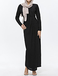 cheap -Women's A Line Dress - Solid Colored Black Gray Purple L XL XXL