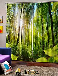 Недорогие -Оптовая пользовательские 3d уф-печати на складе много оконных штор шторы сделаны в китае 100% полиэстер затемняющая ткань для спальни / гостиной / отеля / балкона