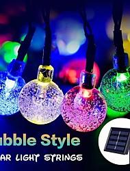 Недорогие -1 компл. Светодиодный фонарь солнечный свет строка 20 м 200 свет пузырьковый шар открытый водонепроницаемый свет украшения сада свет