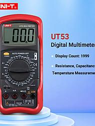 Недорогие -Цифровой мультиметр UNI-T UT53 Измерение сопротивления диодов / транзисторов Цифровой дисплей AC / DC Мультиметр Амперметр