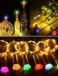 Недорогие -6 шт. Винные фонари с пробкой фея с батарейным питанием мини-огни ромбовидные светодиодные пробковые огни для бутылок вина diy декор партии рождество хэллоуин свадьба