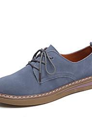 cheap -Women's Sneakers Flat Heel Round Toe Suede Preppy Walking Shoes Summer Black / Blue / Khaki