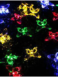 Недорогие -3 м бабочка гирлянды 20 светодиодов многоцветный фестиваль ну вечеринку дома декоративные солнечной энергии