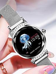 Недорогие -h2 умные часы женщины 3d алмазное стекло монитор сердечного ритма сна монитор лучший подарок smartwatch