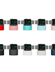 Недорогие -подставка из силикагеля для Apple Watch серии 4/3/2/1 с беспроводной зарядкой (без кабеля для передачи данных)